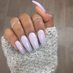 Nail art Christmas - the festive spirit on the nails. Over 70 creative ideas and tutorials - My Nails Light Purple Nails, Purple Acrylic Nails, Pastel Nails, Perfect Nails, Gorgeous Nails, Color Lila Pastel, Pastel Purple, Hair And Nails, My Nails