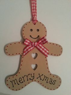 Wooden+Christmas+Gingerbread+Man+Gift+Tag+or+Christmas+Tree+Decoration £2.35