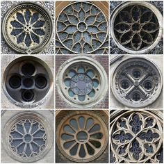 Gothic church round windows-stained glass is a big part of gothic architecture Architecture Classique, Detail Architecture, Church Architecture, Futuristic Architecture, Interior Architecture, Windows Architecture, Architecture Sketchbook, Architecture Portfolio, Concept Architecture