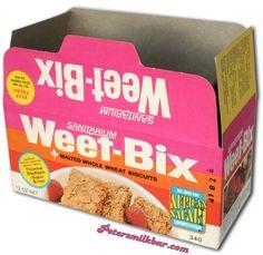 Old Weetbix Box in OZ Sanitarium