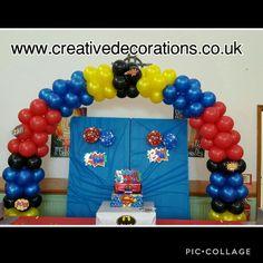 Wedding Balloons in Bedfordshire Superhero Balloons, Super Hero Training, Armor Of God, Thomas The Train, Balloon Arch, Balloon Decorations, Decor Crafts, Best Sellers, Batman