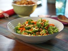 Broccoli Carrot Salad with Honey Dijon Vinaigrette recipe from Valerie Bertinelli via Food Network