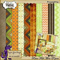 Retro Fall Papers 2 by Digital Gator Designs $2.50