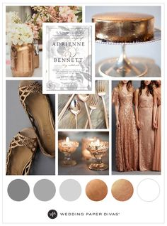 Copper and Foil Wedding Ideas | Wedding Paper Divas