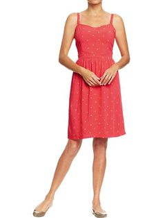 Old Navy | Women's Poplin-Crepe Dresses