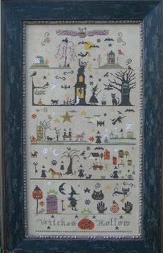 Witches Hollow counted cross stitch pattern at thecottageneedle.com