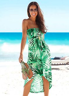 Green Beach Dresses