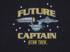 "Star Trek ""Future Captain"" Toddler T Shirt Size 2T Color Black New | eBay"
