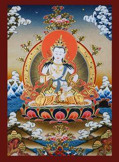 Buddha Painting Buddha Temple, Buddha Buddhism, Buddha Art, Tibetan Buddhism, Thangka Painting, Buddha Painting, Poster S, Poster Prints, Lotus Logo