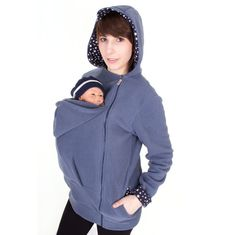 Belly to baby carrier jacket babywearing coat by VivalaMamaBerlin