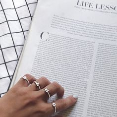 Lovely letter rings.  15% off with code: LALA15 #lalaloving #jewelry, #fashion