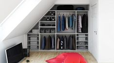 new ideas walk in closet snedtak dressing rooms Ikea Pax Wardrobe, Ikea Closet, Attic Closet, Bedroom Wardrobe, Closet Bedroom, Bedroom Storage, Dorm Closet Organization, Craft Room Closet, Walking Closet