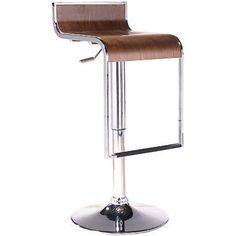 Azumi Piston Stool with Wood Seat in Walnut