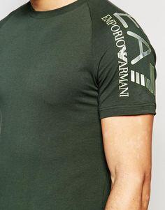 Image 3 ofEmporio Armani EA7 T-Shirt with Reflective Sleeve Logo