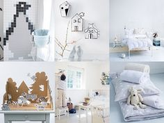 white kids rooms