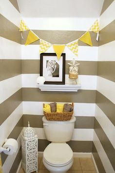 yellow and grey bathroom. Minus the picture and hanging piece. the color