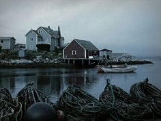 The quaint fishing village and harbour at Peggy's Cove, Nova Scotia. Riley Blue, Song Of The Sea, Home For Peculiar Children, A Series Of Unfortunate Events, Seaside Towns, Fishing Villages, Neon, Nova Scotia, Small Towns