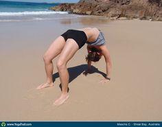 #Yoga Poses Around The World: Full Wheel Pose taken in Shoal Bay, Australia by Mascha C.