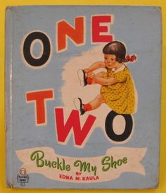 One Two Buckle My Shoe Vintage Whitman Tell A Tale Tales Edna Kaula 1951 HB Good | eBay