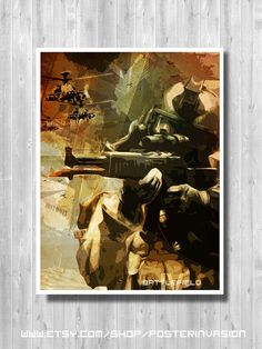 BATTLEFIELD poster video game poster Battle by PosterInvasion