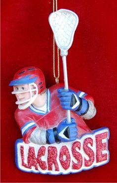 Lacrosse Star Male Christmas Ornament  Lacrosse