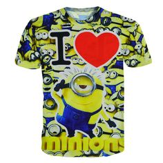 Looking for an addition to your Minions collection? - This is perfect for any Despicable Me or Minions fans! - While Supplies Last! Limit 10 Per Order Please allow weeks for shipping due to high d Minion Shirts, 3d T Shirts, Printed Shirts, Minions Fans, My Minion, My Love, Casual, Mens Tops, Clothes