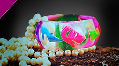 Epoxy.  Decoration from epoxy resin. Bracelet with shoes.  Filling trans...