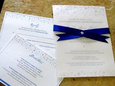 Starry Night Custom Wedding Invitation. $7.00, via Etsy.