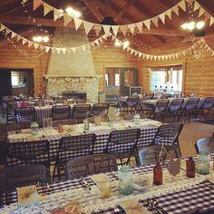 Davis Lodge reception set up