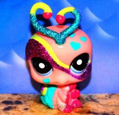 Littlest Pet Shop✵LPS✵2151✵PINK HEART GLITTER SPARKLE LOVEBUG LOVE BUG✵XMAS GIFT