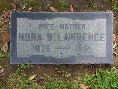 Nora Benita Martin Lawrence 1876-1951