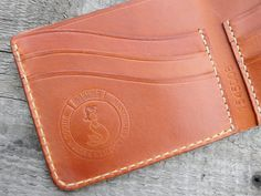 SOXISIX BIFOLD WALLET PM.45/COGNAC : Soxisix™ | Highest quality handmade leather belts, wallets...