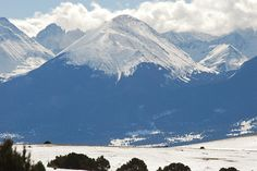 Sangre de Cristo Mountains. The southern end of the Rocky Mountains. New Mexicans say them Rockies start here