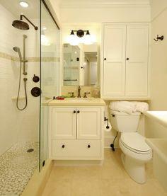 small bathroom ideas ! Handles