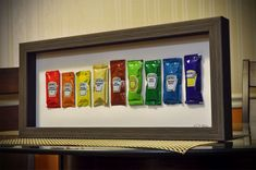 """""""I collect condiment packets and wanted a creative way to get rid of my extras..."""" via/Imgur - I kinda love this!"""