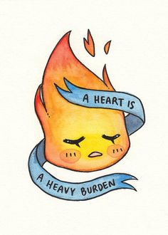 A HEART IS a heavy burden indeed. --- matte paper stock print, available as a 5x7 and 8x10