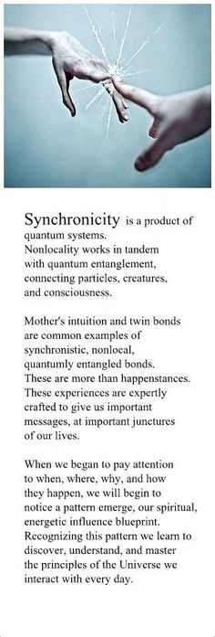 Synchronicity is a gift from God. It's Harmonies are designed to quantomly remind us of our divine blueprint; realigning us to our highest path of evolution.
