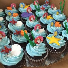 Ariel themed cupcakes