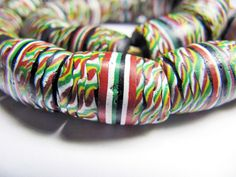 1 Antique African Trade Bead Italian FANCIES Barrel