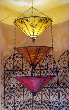 Moroccan tears hanging henna lamp