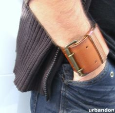 urbandon: LEATHER CUFF TUTORIAL