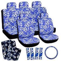 OxGord Hawaiian Seat Cover & Floor Mat Set http://www.thecarmania.com/best-girly-car-seat-covers/