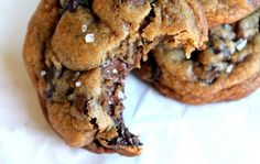 Nutella - Stuffed Brown Butter + Sea Salt Chocolate Chip Cookies My nutella cookies cooling as I type!