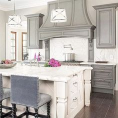 Modern french country kitchen decorating ideas (47)