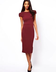 Professionelle: Pencil Dress with Fold Shoulder Detail
