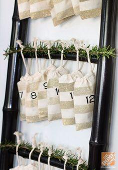 DIY Advent Calendar on a Ladder
