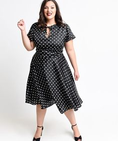 plus size rockabilly black dress