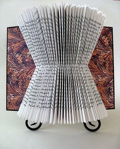 Book Art Up Cycle Folded Book Sculpture