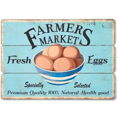 Farmers Market Sign | Farmhouse Signs | Kitchen Signs | Kitchen Wall Art | Fresh Eggs Sign