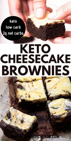 Low Calorie Desserts, No Cook Desserts, Dessert Recipes, Health Desserts, Cake Recipes, Cheesecake Brownies, Keto Cheesecake, Fudge Brownies, Chocolate Chip Recipes